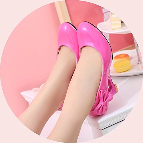 KHSKX-Candy Colored Leather Shoes Hollowed Out Specific Slope With Large Size Shoes Forty-two UK1fX1