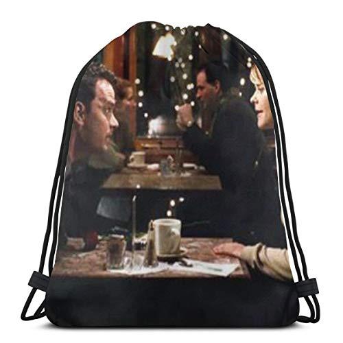 HMHMUND You've Got Mail Drawstring-Backpack-Bulk-Large Drawsting Bag Kids Drawstring Backpack String Bag For Men Women 36cmx43cm