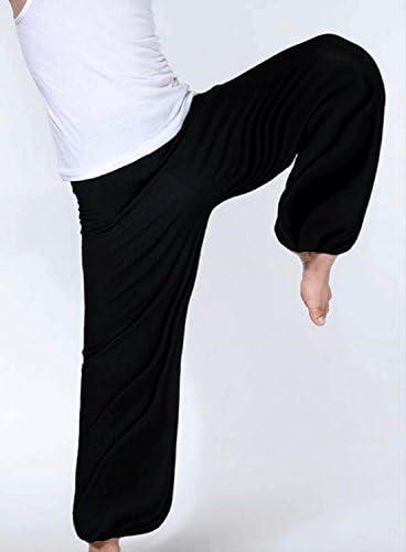 D&JINSTORE 太極拳 カンフー 武術 ヨガ 運動着 スポーツ ジム パンツ 無地 スウェット メンズ 部屋着 にも