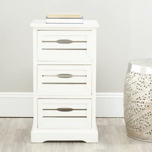 Safavieh American Homes Collection Samara Distressed Cream 3-Drawer Cabinet