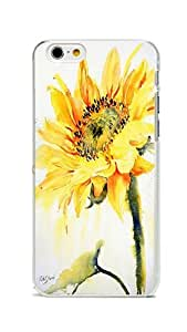 iPhone 6 Case Cover, Colorful Printed Sunflower Slim & Flexible PC Skin Cover for iPhone 6 4.7inch