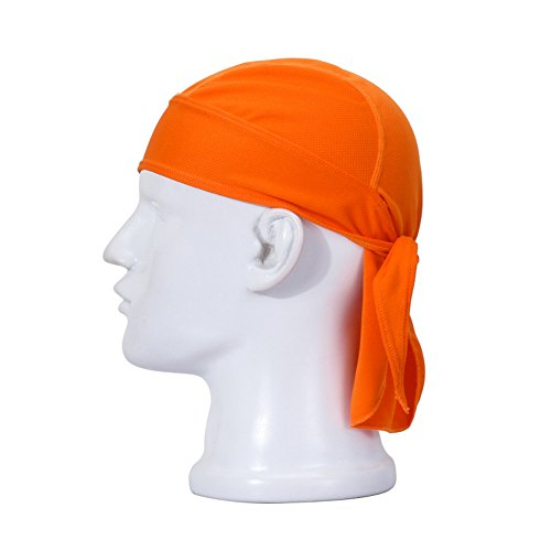 TopTie Do RAG/Cycling Pirate Hat, Solid Color-Orange