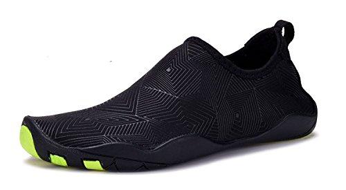 Denater Pieds Nus Aqua Chaussettes Chaussures De Natation À Séchage Rapide Pour La Plage Piscine Plongée Plongée-surf-16 Trous De Drainage Z-black