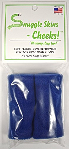 Snuggle Skins Cheeks! – CPAP Straps Covers – No More Strap Marks! (Blue)
