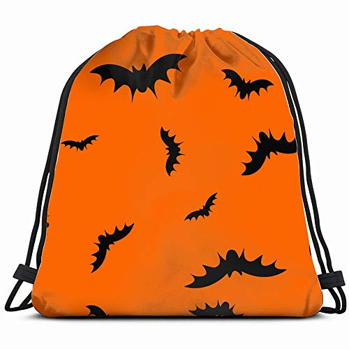 (Flying Black Bats Silhouettes Abstract Signs Symbols Drawstring Bag Backpack Gym Dance Bag Reversible Flip Sequin Bling Backpack For Hiking Beach Travel Bags )
