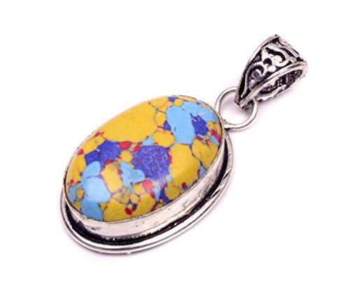 Nimbark Birthstone Jewlery Mosaic Jasper Handmade Pendant 1.5''