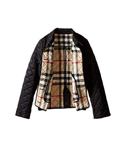 BURBERRY Girls Mini Ashurst Lightweight Diamond Quilted Jacket in Black from BURBERRY