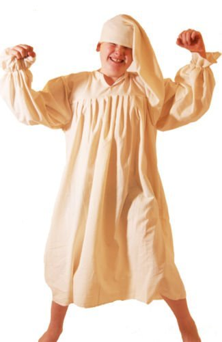 Victorian Kids Costumes & Shoes- Girls, Boys, Baby, Toddler World Book Day-Dickens-A Christmas Carol-Scrooge-Wee Willie Winkie NIGHTSHIRT Childs Fancy Dress Costume - All Ages $44.00 AT vintagedancer.com