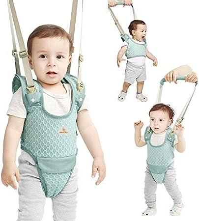 Yealeo Bebe Caminar Arnés, 4 in 1 Seguridad Asistente Niños Andador, Cinturón de bebé transpirable ajustable para 7-24 meses (A-Verde)