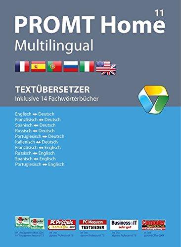 PROMT Home 11 Multilingual: Preisgekröntes Übersetzungsprogramm mit intelligenter Textanalyse für die Sprachen Deutsch, Englisch, Französisch, Spanisch, Russisch, Italienisch und Portugiesisch. Übersetzt tägliche Korrespondenz, Bedienungsanleitungen, Internetseiten und PDF Dokumente