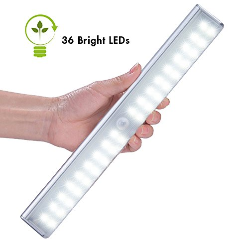 Cshidworld LED Motion Sensing Closet Lights, Rechargeable...