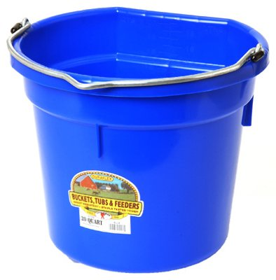 Little Giant Farm & Ag P20FBBLUE 20 Quart Blue Flat Plastic Bucket