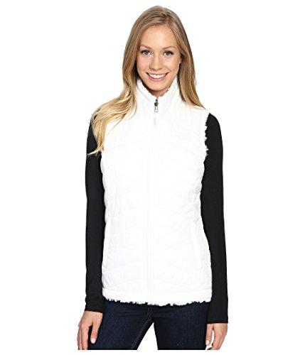 The North Face Women's Mossbud Swirl Reversible Vest TNF White Polyester Blend Vest XL (North Face White Vest)