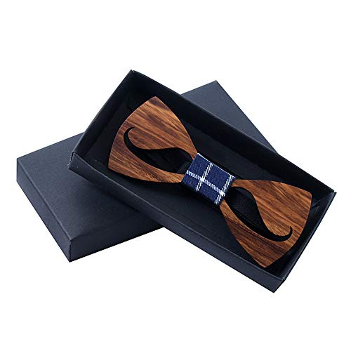 Wooden Bow Tie Wooden Beard Tie Hollow Out Wood Tie Manual Leisure Neckties Bow Tie Men's and Women's (Make A Bow Tie Out Of A Necktie)