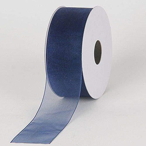 (3/8'' Colors Navy Beautiful Sheer Organza Ribbon Gift Wrap Arts and Craft 25 Yards)