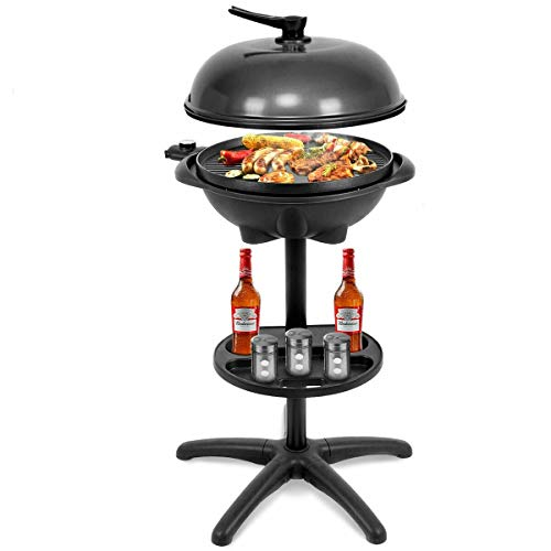 Global Supplies GS-10880 1350 W Outdoor Electric BBQ Grill with Removable Stand