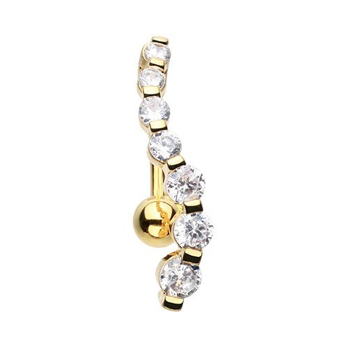 Gold Dangling Belly Ring - 8