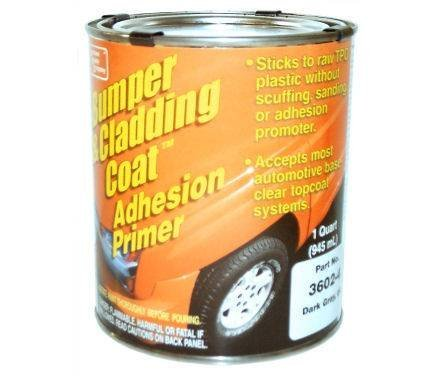Bumper and Cladding Adhesion Coat Primer - Dark Gray, Qt