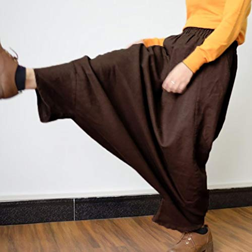 Yoga de Alta Estilo Café Festival Leggings Boho Pantalón Vaqueros Jeans Mujer ASHOP Pantalones Cintura de de Impreso Baggy Fitness Ocio de Cintura Cordón Pantalones f0HUUqB