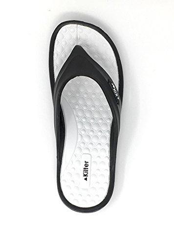 Para de Sintético 36 blanco negro de Hombre Kilter EU Sandalias Vestir Material YF6Y4gR