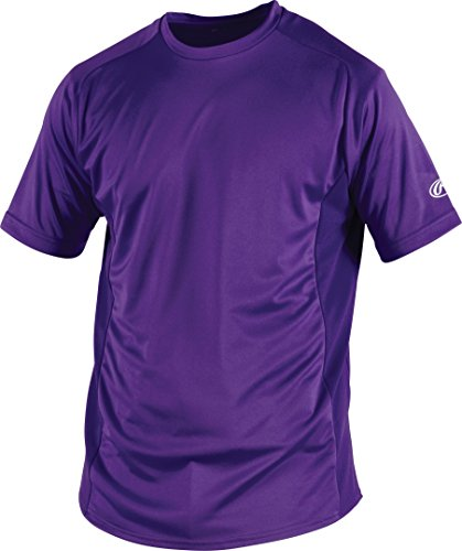 Rawlings Youth Crew Neck Jersey, X-Large, Purple