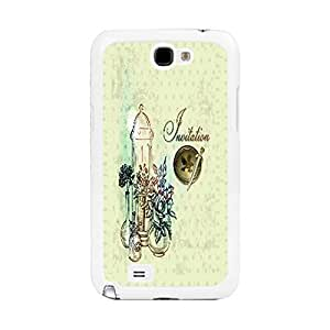 Pretty Retro Flower Design Samsung Phone Case Cover for Samsung Galaxy Note 2 N7100 Floral Print Mobile Phone Case Skin (combo flower drawing BY648)