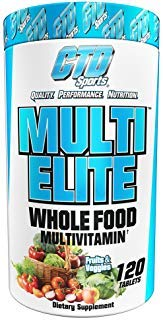 Whole Foods Multivitamin for Men and Women. Pure Natural Ingredients for Energy, Hair, Skin and Nails. Fruit and Vegetable Best Vitamin Supplement Sports Formula. Multi Elite 120 Tablets. ()