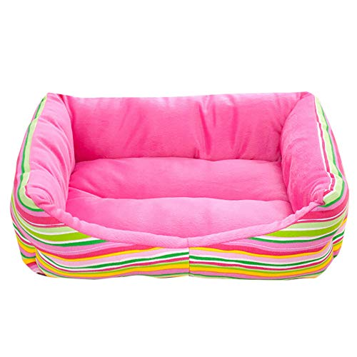 (YJYdada Dog Hat Pet Dog Cat Bed Puppy Cushion House Soft Warm Kennel Dog Mat Blanket (S, Pink))