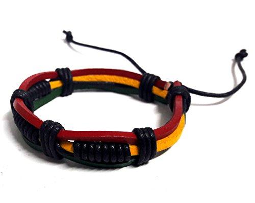 [Rasta plaided Hippie Bracelet Braid Cord Handmade Reggae Jamaican Hawaiien Style] (Dragon Lady Sexy Costumes)