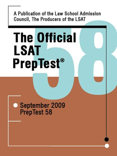 Official LSAT Preptest 58