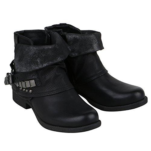 Japado - Stivali da Motociclista Donna, nero (nero), 36