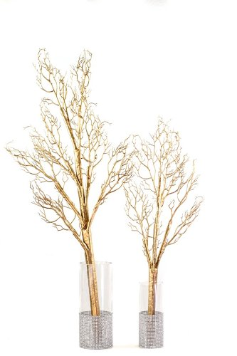 Bendable Artificial Manzanita Branches - Gold - Small
