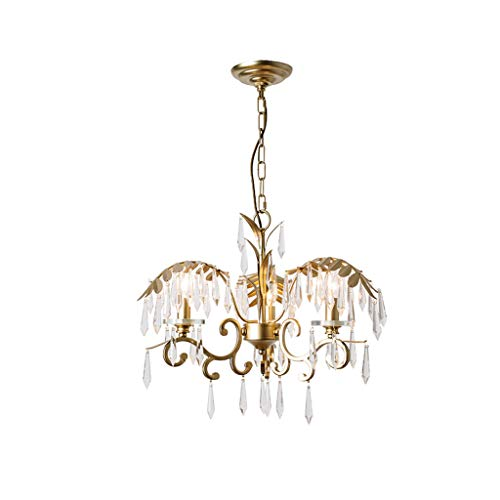(SX-ZZJ &Chandelier Crystal Chandelier Creative Design Dining Room Lamp Bedroom Living Room LED Chandelier%Chandeliers (Color : Warm Light))