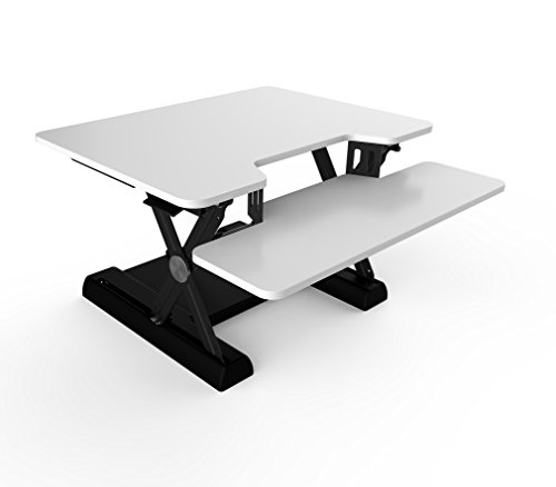 OLLO: Variable height, sit-stand workstation with gas spring power, 30'' wide, 4.4-17.5'' lift (OD-30 White) by OLLO (Image #5)