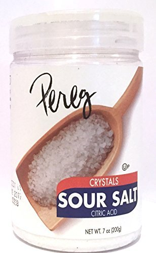 Pereg Crystals Sour Salt Citric Acid Kosher For Passover 7 Oz. Pack Of 6 by PEREG