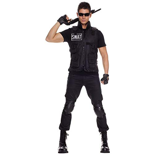(SWAT Team Costume Adult Cop Police Officer Halloween Fancy)