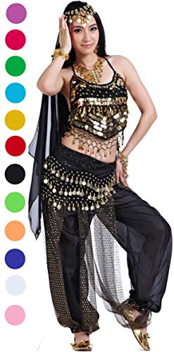 Athena YY Belly Dancer Costumes Bollywood Dancer Costume for Women Black ()