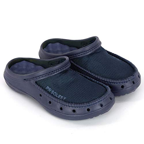 (PR Soles Recovery Sandals | Mesh Clogs | Navy | Mens 9 | Womens 10)