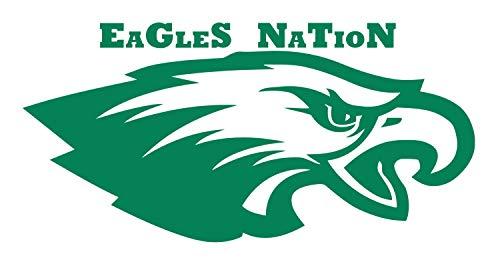 (Philadelphia Eagles Wall Decal is a Vinyl Wall Decal Displaying The Philadelphia Eagles Logo. - Green)
