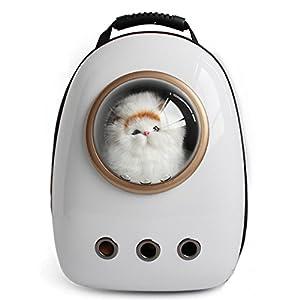 Astronauta Cápsula Mochila para mascotas Aerolínea Aprobado Transparente Respirable Venthole Perro Portador de gato Bolso portátil Viaje al aire libre Paseos Senderismo Maleta