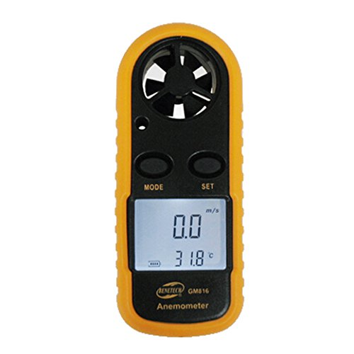 BENETECH LCD Digital Wind Speed Scale Gauge Anemometer Air Flow Meter (Digital Air Flow Monitor)