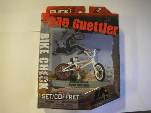 Flick Trix Bike Check: Ryan Guettler Mirra White [Toy](Wheel Color May Vary)
