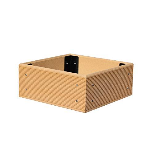 ECOgardener Premium Raised Bed Garden Planter Box 4' x 4' - The Most Beautiful Elevated Planter That Will not Crack, Split, warp or Break. Easy Setup and Maintenance Free Design.