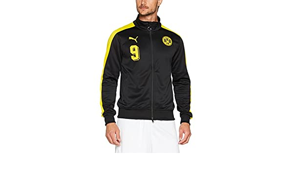 Amazon.com : PUMA 2017-2018 Borussia Dortmund T7 Track Jacket (Black) : Sports & Outdoors