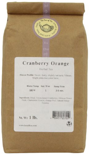 The Tao of Tea Cranberry Orange, Blended Herbal Tea, 1-Pounds