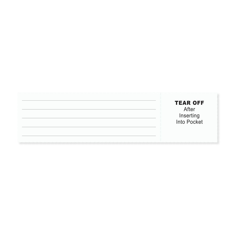 PDC Healthcare 8610-01-PDA Insert Cards Paper X, Adult/Pediatric, White (Pack of 250)