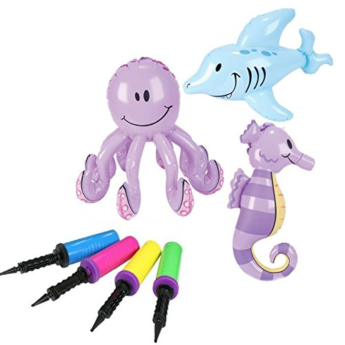 Inflatable Creatures Octopus Seahorse Inflator