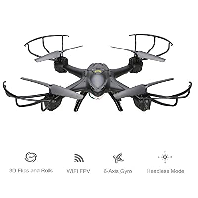Holy Stone X400C FPV RC Quadcopter Drone with Wifi Camera Live Video One Key Return Function Headless Mode 2.4GHz 4 Channel 6 Axis Gyro RTF Left and Right Hand Mode Bundle with Goggles by Holy Stone