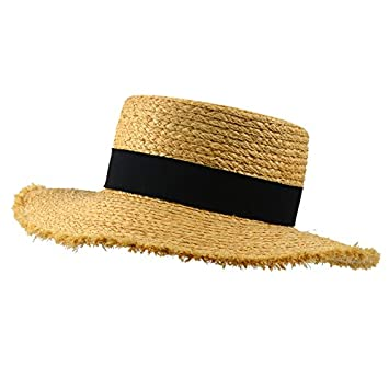 8d647091 ALWLJ New High Quality Raffia Straw Hats For Adult Burr Boater Hat Summer  Style Wide Brim Sun Hat Panama Caps Accessories: Amazon.co.uk: Sports &  Outdoors