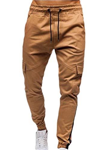 Comaba Men Multi-Pockets Oversized Straight Camo Original Fit Cargo Work Pant